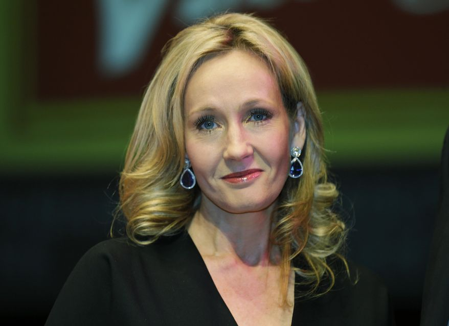 British author J.K. Rowling poses for photographers at the Southbank Centre in London, Sept. 27, 2012. (AP Photo/Lefteris Pitarakis) ** FILE **