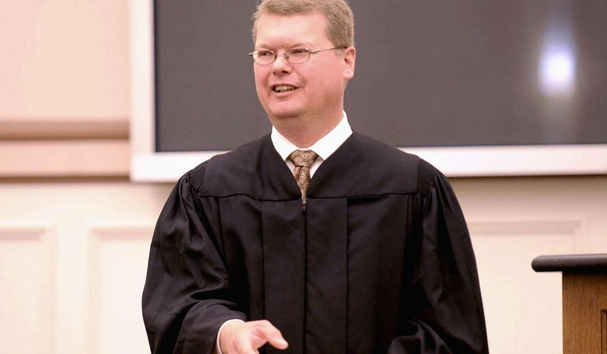 This 2016 photo shows Sauk County Circuit Court Judge Michael Screnock, who has announced his candidacy for the Wisconsin Supreme Court on Friday, June 16, 2017. (Tim Damos/Baraboo News Republic via AP)