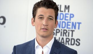 FILE - In this Feb. 25, 2017 file photo, actor Miles Teller arrives at the Film Independent Spirit Awards in Santa Monica, Calif.  Teller is out of jail after being arrested for public drunkenness. San Diego Police officer Billy Hernandez says the 30-year-old actor was arrested Sunday morning, June 18, after officers spotted him swaying and falling into the street. (Photo by Richard Shotwell/Invision/AP, File)