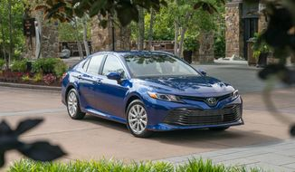 "The word ""vanilla"" had been bandied around by the Toyota suits referring to their dependable brand favorite, but the promise is ""the 2018 version of the Camry is anything but."" (Photo courtesy of Toyota)"