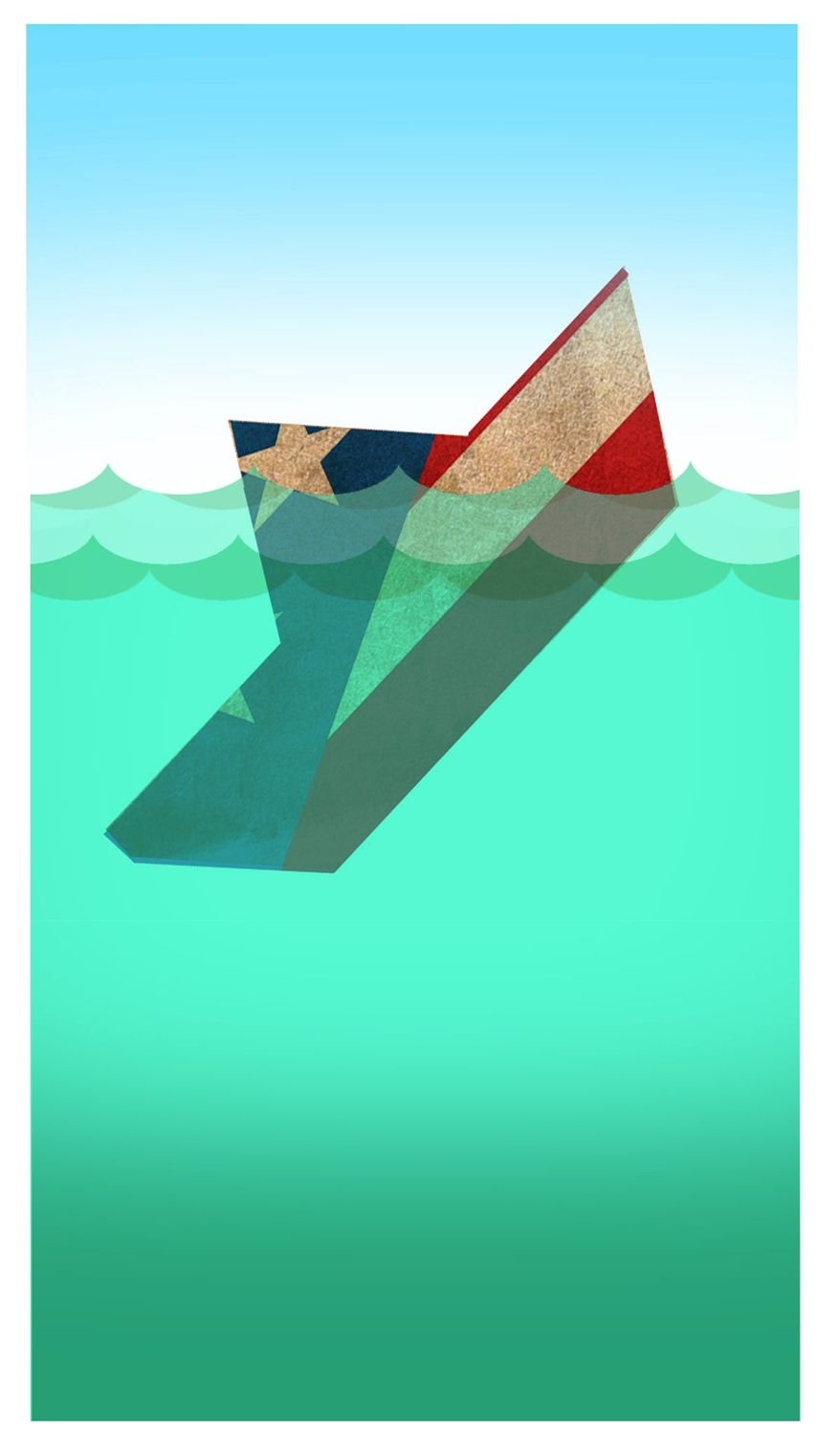 Illustration on the fiscal plight of Puerto Rico by Alexander Hunter/The Washington Times