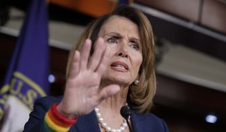 House Minority Leader Nancy Pelosi, D-Calif., speaks during a weekly news conference on Capitol Hill in Washington, Friday, June 9, 2017. Democratic Party divisions are on stark display after a disappointing special election loss in a hard-fought Georgia congressional race. (AP Photo/J. Scott Applewhite) ** FILE **