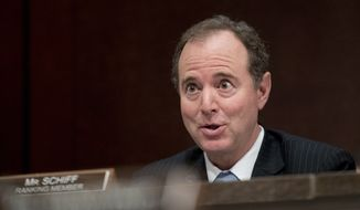 Ranking Member Rep. Adam Schiff, D-Calif., questions former Homeland Security Secretary Jeh Johnson as he testifies to the House Intelligence Committee task force on Capitol Hill in Washington, Wednesday, June 21, 2017, as part of the Russia investigation. (AP Photo/Andrew Harnik) ** FILE **