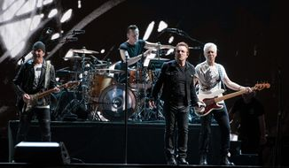 U2 performs at FedEx Field in Landover, Maryland, June 20, 2017.