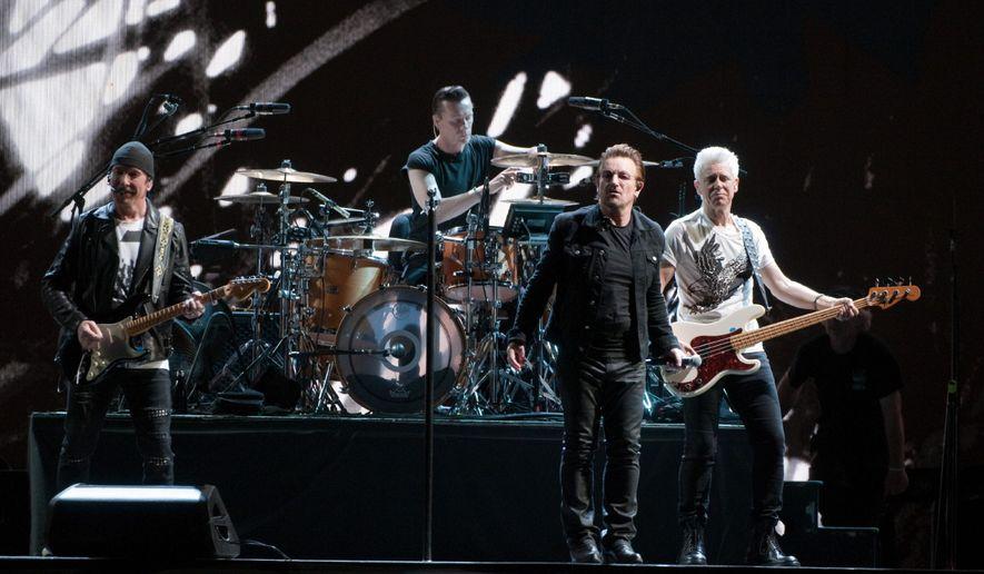 U2 performs at FedEx Field in Landover, Maryland, June 20, 2017.