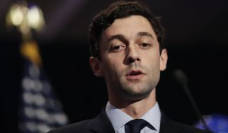 Democratic candidate for 6th congressional district Jon Ossoff concedes to Republican Karen Handel at his election night party in Atlanta, Tuesday, June 20, 2017. (AP Photo/David Goldman)