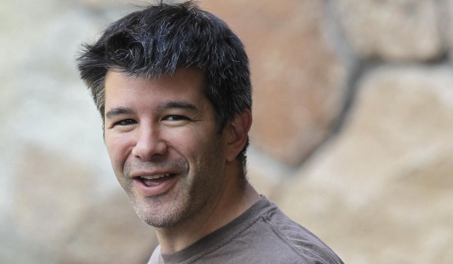 Uber CEO and co-founder Travis Kalanick arrives at a conference in Sun Valley, Idaho, in this July 10, 2012, file photo. Kalanick said in a statement to The New York Times on Tuesday that he has accepted a request from investors to step aside. Kalanick says the move will allow the ride-sharing company to go back to building itself rather than become distracted by another fight. (AP Photo/Paul Sakuma, File)