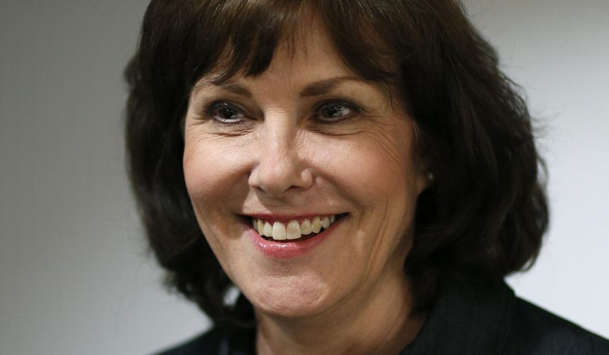 FILE - In this June 14, 2016 file photo, Congressional candidate Jacky Rosen attends an election night party in Las Vegas. Nevada Rep. Rosen said Wednesday, June 21, 2017, she will seek the Democratic nomination to take on incumbent Republican Sen. Dean Heller in the 2018 election. (AP Photo/John Locher, File)