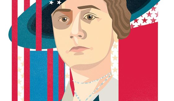 Illustration of Anne Morgan by Linas Garsys/The Washington Times