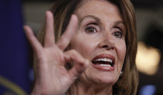 """I'm a master legislator, I am a strategic, politically astute leader, my leadership is recognized by many around the country, and that is why I'm able to attract the support that I do, which is essential to our election, sad to say,"" said House Minority Leader Nancy Pelosi. (Associated Press/File)"