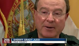 "Polk County Sheriff Grady Judd has warned citizens to avoid being a ""sitting duck"" by arming themselves in the wake of mass attacks around the world. (WFTS)"