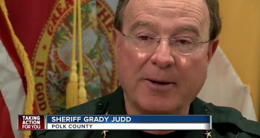 """Polk County Sheriff Grady Judd has warned citizens to avoid being a """"sitting duck"""" by arming themselves in the wake of mass attacks around the world. (WFTS)"""