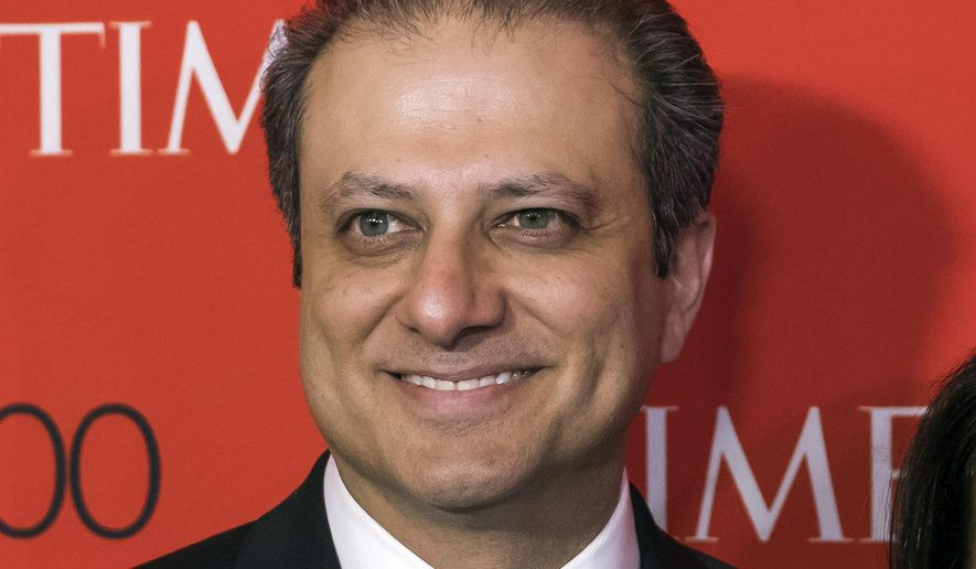 In this April 25, 2017, file photo, former U.S. Attorney Preet Bharara attends the TIME 100 Gala, celebrating the 100 most influential people in the world, in New York. (Photo by Charles Sykes/Invision/AP, File)