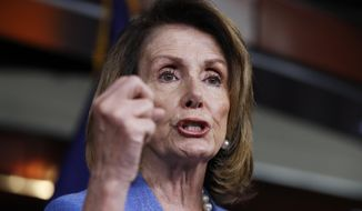 House Minority Leader Nancy Pelosi of Calif. speaks to reporters during a news conference on Capitol Hill in Washington, Thursday, June 22, 2017. (AP Photo/Manuel Balce Ceneta)
