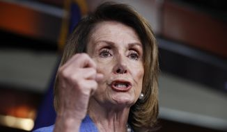 House Minority Leader Nancy Pelosi of Calif. speaks to reporters during a news conference on Capitol Hill in Washington, Thursday, June 22, 2017. (AP Photo/Manuel Balce Ceneta) ** FILE **