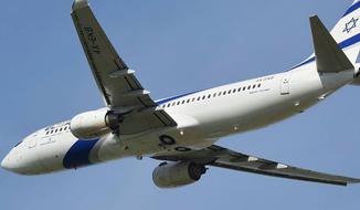 An El Al airliner in flight, photo via the El Al Israel Airlines USA Facebook page.