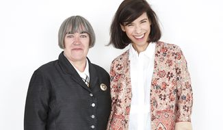 "Aisling Walsh (left) and star Sally Hawkins of the film ""Maudie.""  (Deadline)"