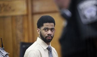 Former Milwaukee police officer Dominique Heaggan-Brown appears in Milwaukee County Court on Wednesday, June 21, 2017, in Milwaukee. A jury on Wednesday acquitted Heaggan-Brown of first-degree reckless homicide in the killing of Sylville Smith, a 23-year-old black man, on Aug. 13, 2016. (Michael Sears/Milwaukee Journal-Sentinel via AP, Pool)