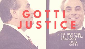 1990 FBI mugshot of John Gotti (image created by W. Scott Lamb).