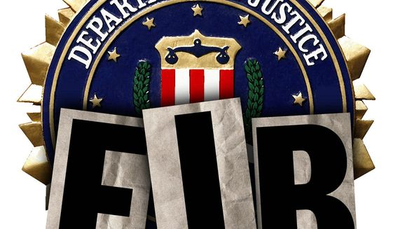 Illustration on the decline of the FBI by Alexander Hunter/The Washington Times