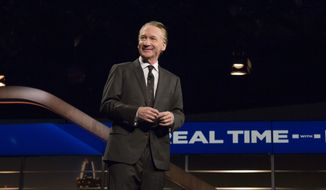 "In a photo provided by HBO, Bill Maher speaks during the monologue of HBO's ""Real Time with Bill Maher"" on Friday, June 23, 2017, in Los Angeles. (Janet Van Ham/HBO via AP)"