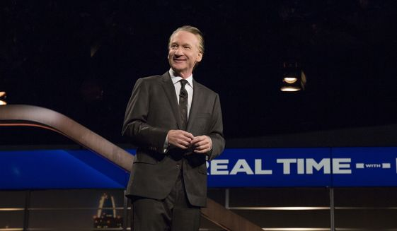 "In a photo provided by HBO, Bill Maher speaks during the monologue of HBO's ""Real Time with Bill Maher"" on Friday, June 23, 2017, in Los Angeles. (Janet Van Ham/HBO via AP) ** FILE **"