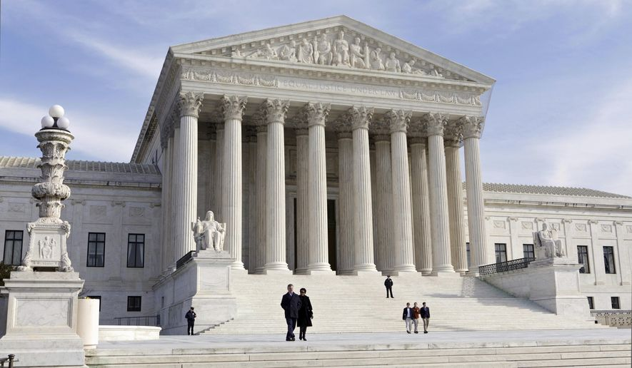 This Jan. 25, 2012, file photo, shows the U.S. Supreme Court Building in Washington. (AP Photo/J. Scott Applewhite, File)