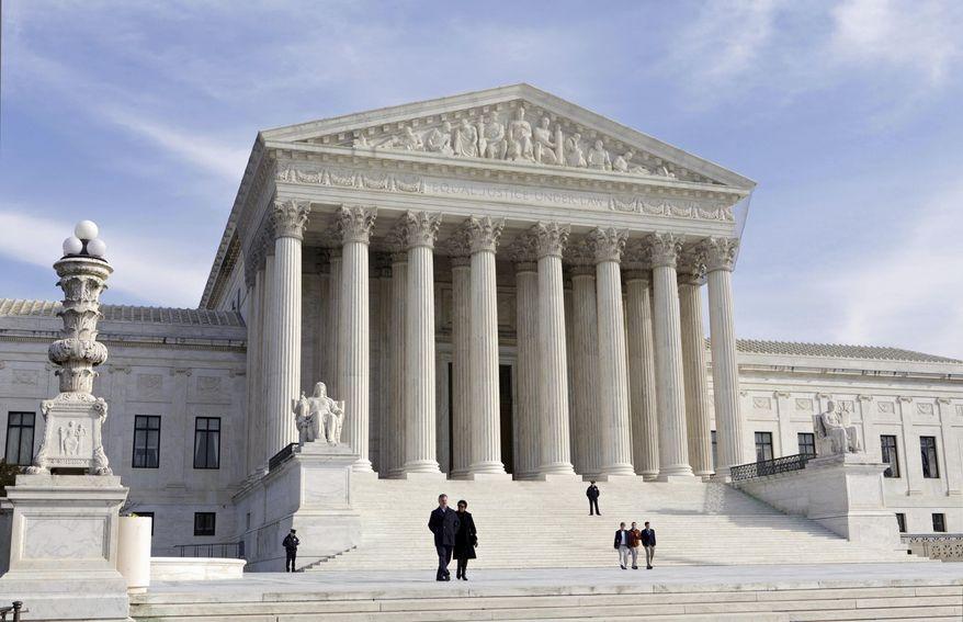 This Jan. 25, 2012, file photo, shows the U.S. Supreme Court Building in Washington. (AP Photo/J. Scott Applewhite, File)