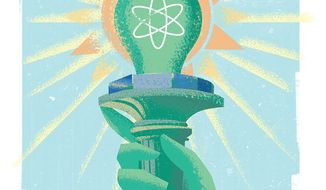 Illustration on energy week by Linas Garsys/The Washington Times