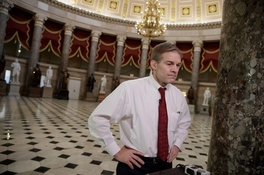 Rep. Jim Jordan, Ohio Republican. (Associated Press) ** FILE **
