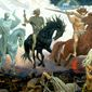 "Democratic Rep. Mazie Hirono of Hawaii called Supreme Court Justices Neil Gorsuch, Clarence Thomas, and Samuel Alito ""horsemen of the apocalypse"" during an MSNBC interview, June 26, 2017. (Four Horsemen of Apocalypse,Viktor Vasnetsov, 1887)"