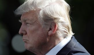 President Donald Trump listens as Indian Prime Minister Narendra Modi speaks in the Rose Garden at the White House, Monday, June 26, 2017, in Washington. (AP Photo/Alex Brandon)
