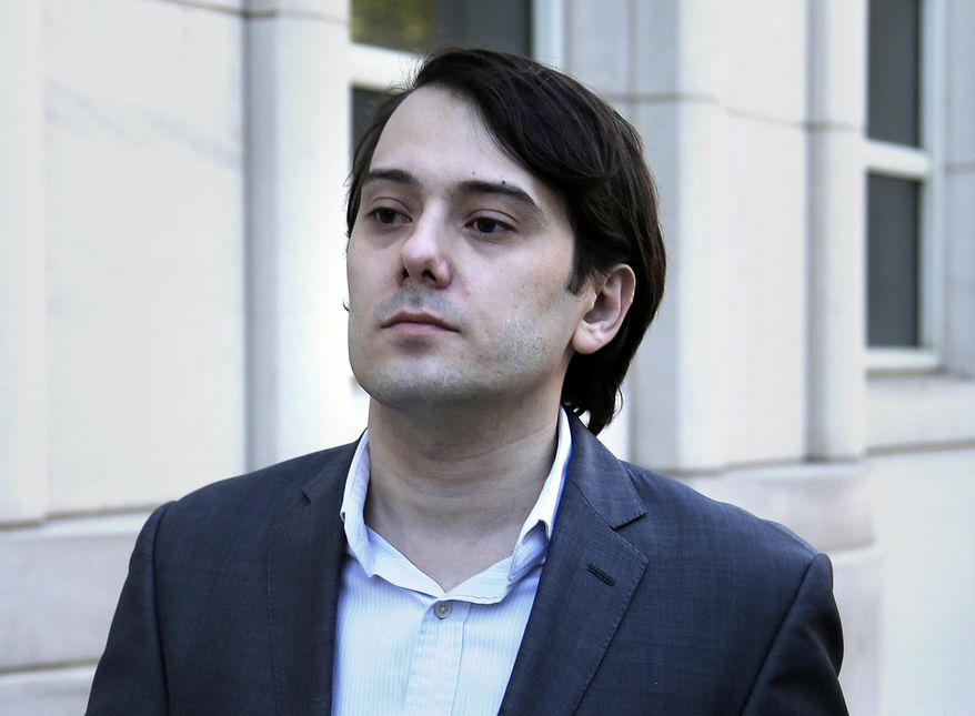 Former Turing Pharmaceuticals CEO Martin Shkreli arrives to federal court in New York, Monday, June 26, 2017. Even with his federal securities fraud trial set to begin Monday, Shkreli has blatantly defied his attorneys' advice to lay low. (AP Photo/Seth Wenig)
