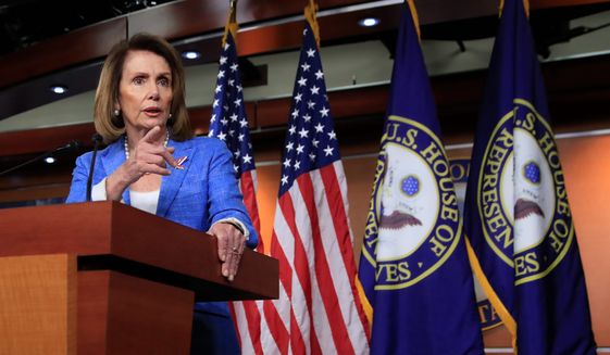 House Minority Leader Nancy Pelosi of Calif. speaks to reporters during a news conference on Capitol Hill in Washington, Thursday, June 22, 2017. (AP Photo/Manuel Balce Ceneta) (Associated Press)