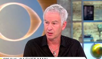 "Tennis icon John McEnroe refused to apologize on June 27, 2017, for comments he made about Serena Williams' ranking in a hypothetical scenario where she played on the men's circuit. (""CBS This Morning"" screenshot)"