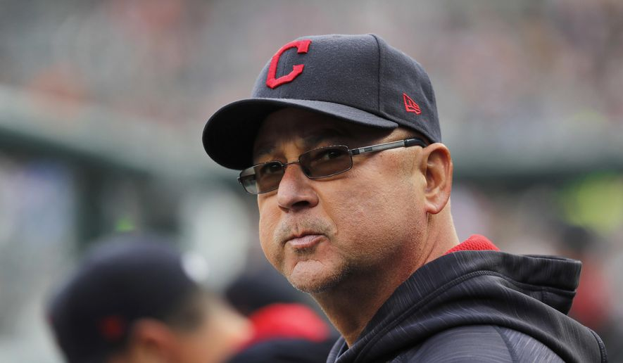 FILE - In this May 3, 2017, file photo, Cleveland Indians manager Terry Francona watches the team's baseball game against the Detroit Tigers in Detroit. Francona missed Tuesday night's game against Texas after his second trip to the hospital this month.The Indians said doctors for now have ruled out major health issues and Francona will be monitored the next several weeks.The 58-year-old Francona left Monday night's game because he wasn't feeling well. He spent several hours at Cleveland Clinic and underwent a series of tests. (AP Photo/Paul Sancya, File)