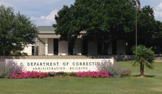 The administration building of the South Carolina Department of Correction in Columbia, S.C., is seen here on June 14, 2017. (Associated Press) **FILE**
