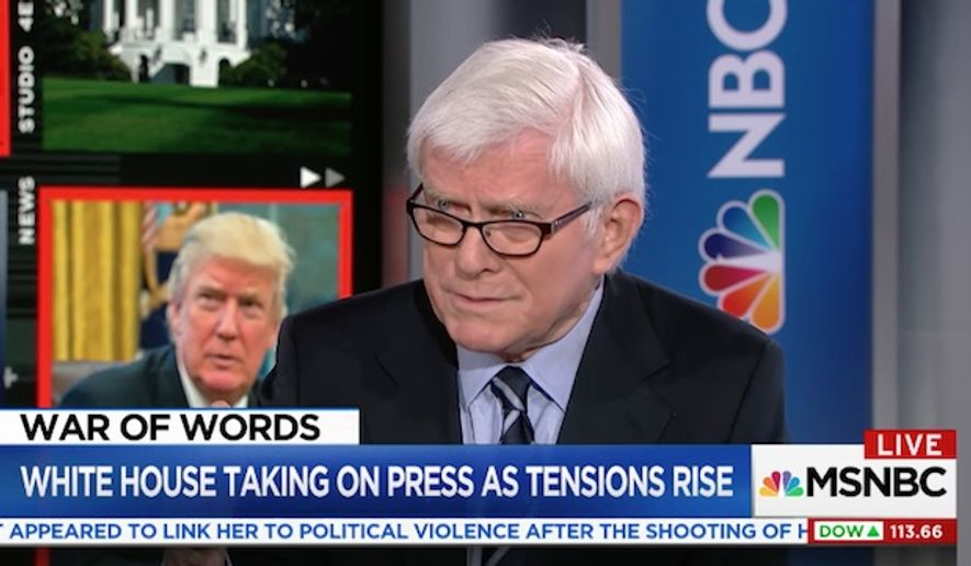Veteran TV host Phil Donahue says journalists need to learn how to take a punch in the era of President Trump.