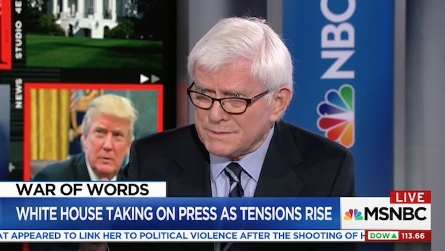 Veteran TV host Phil Donahue says journalists need to learn how to take a punch in the era of President Trump.  (MSNBC)