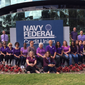 Navy Federal headquarters employees are shown here in a photo from its official Facebook page. On June 27, 2017, Fortune magazine ranked the Vienna, Va.-based credit union as the 7th best U.S. company for millennials to work for. (Navy Federal/Facebook) [https://www.facebook.com/NavyFederal/photos/a.1440562879322089.1073741871.160344204010636/1440563629322014/?type=3&theater]