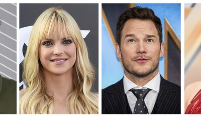 This combination photo shows actors, from left, Leslie Jones, Anna Faris, Chris Pratt and Gal Gadot, who are among the 774 people invited to join the Academy of Motion Picture Arts and Sciences. The film academy revealed its latest invitees on Wednesday, June 28, 2017. (AP Photo/File)