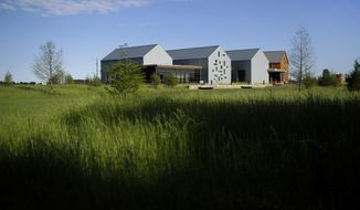 This May 16, 2017 photo shows the Harriet Tubman Underground Railroad Visitor Center in Church Creek, Md. The Harriet Tubman Byway on Maryland's Eastern Shore was designed to help bring to life the famed abolitionist. (AP Photo/Patrick Semansky)