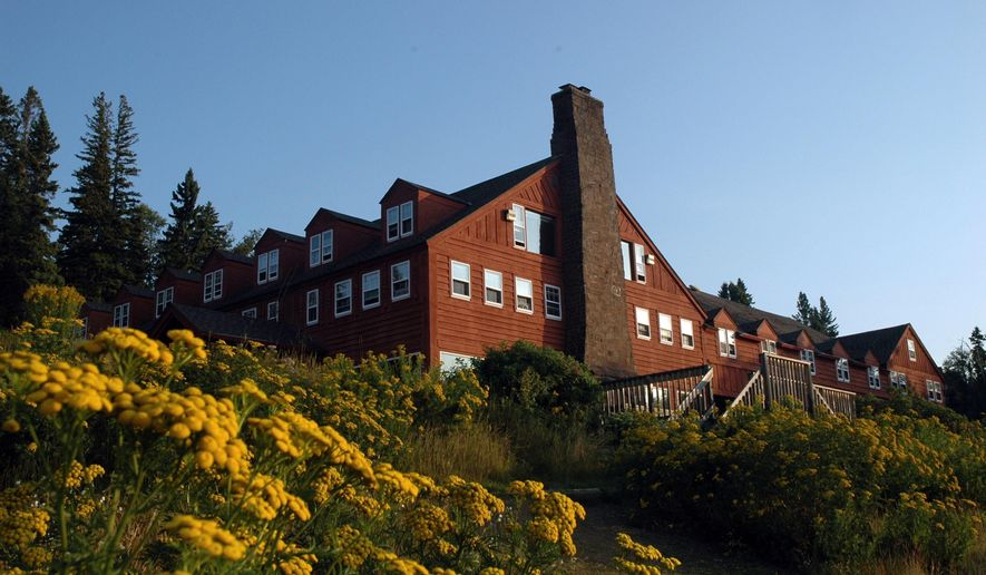 This photo taken July 6, 2010, shows the Lutsen Lodge and Resort which celebrated its 125th birthday. The iconic resort on Minnesota's North Shore is on the market for the first time in nearly three decades. The Star Tribune reports that longtime owners Nancy Burns and Scott Harrison have put the Lutsen Resort on the market for almost $10 million. (Jim Buchta/Star Tribune via AP)