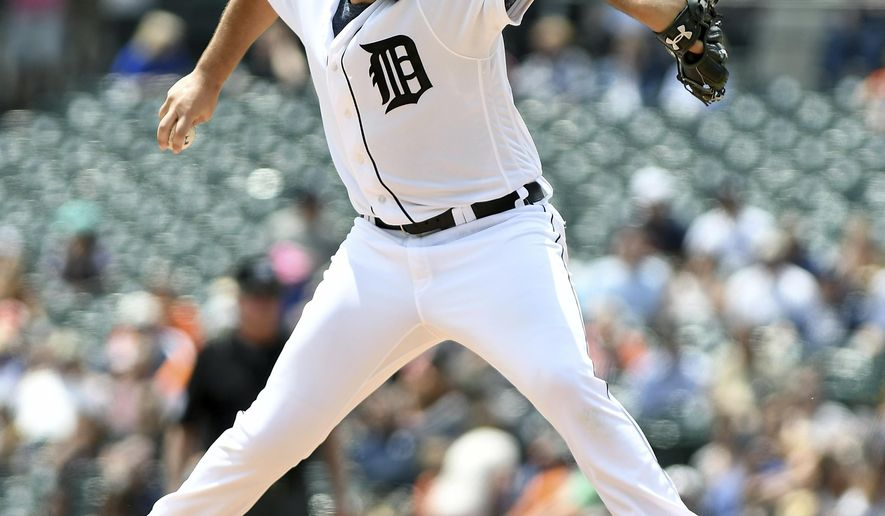 Detroit Tigers starting pitcher Michael Fulmer throws a pitch in the second inning during a baseball game against the Kansas City Royals, Thursday, June 29, 2017, in Detroit. (AP Photo/Lon Horwedel)