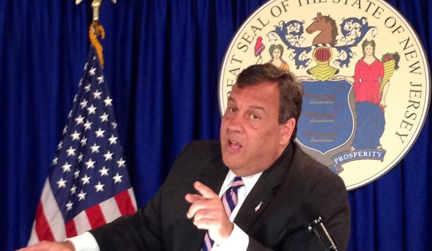 New Jersey Republican Gov. Chris Christie speaks Friday, June 30, 2017, in Trenton, N.J. Christie said that a state government shutdown is likely if he doesn't get an agreement by midnight with Democratic lawmakers on the budget. A stalemate over his proposal to overhaul the state's largest health insurance company was at issue. (AP Photo/Michael Catalini)