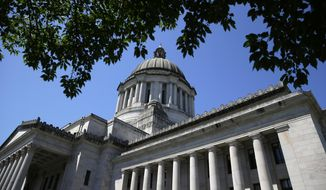 The Legislative Building is shown Friday, June 30, 2017, at the Capitol in Olympia, Wash. Details of a new two-year state operating budget were released Friday, the same day Washington lawmakers must vote on the plan in order to prevent a partial government shutdown. (AP Photo/Ted S. Warren)