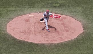 Boston Red Sox starting pitcher Chris Sale works against the Toronto Blue Jays during the first inning of a baseball game in Toronto on Saturday, July 1, 2017. (Chris Young/The Canadian Press via AP)