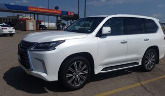 The 2017 Lexus LX 570 is the kind of user friendly vehicle that will allow you to carry as many as eight people and tow what you need behind you at the same time. (Photo by Rita Cook).