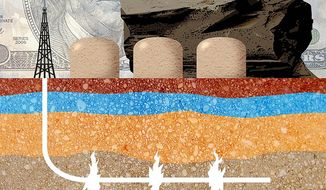 American Prosperity in Fracking Illustration by Greg Groesch/The Washington Times
