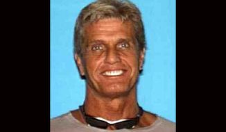 FILE - This file photo released by the Los Angeles County Sheriff's Department shows missing 20th Century Fox executive Gavin Smith. A convicted drug dealer was found guilty on Monday, July 3, 2017, of voluntary manslaughter in the beating death of Smith five years ago. Smith's body was found in October 2014. (Los Angeles County Sheriff's Department via AP, File)